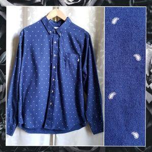 {Obey}*Rare* Propaganda Blue Paisley Button Up Md